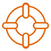 salvagente arancione
